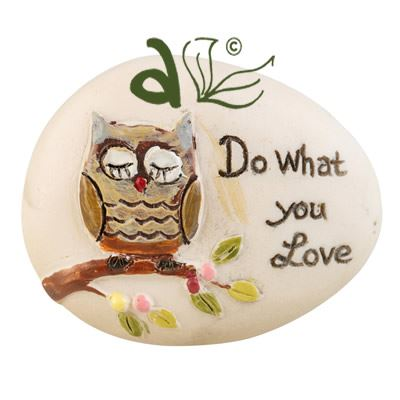 Do What You Love Decorative Pebble