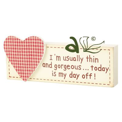 I'm Usually Thin... Wooden Heart Block