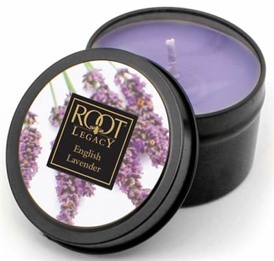 English Lavender 30 Hour Root Legacy Candle in a Tin