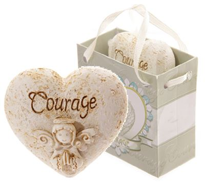 Courage Angel Whisper Heart in Gift Bag