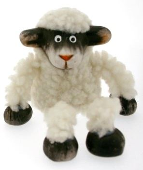 Black & White Sheep Shelf Sitter