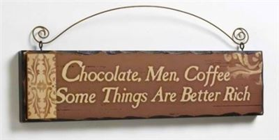 Chocolate, Men, Coffee Wooden Hanger