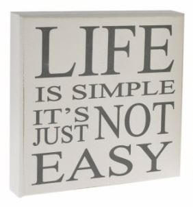 Life is Simple Word Block Large