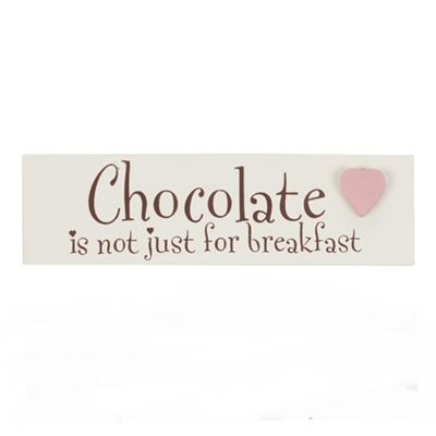 Chocolate is not Just for Breakfast Word Block