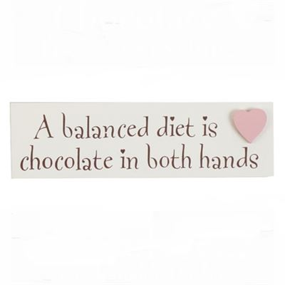 A Balanced Diet Chocolate Word Block