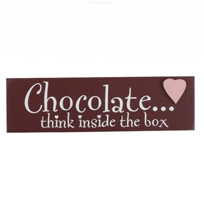 Think Inside the Box Chocolate Word Block