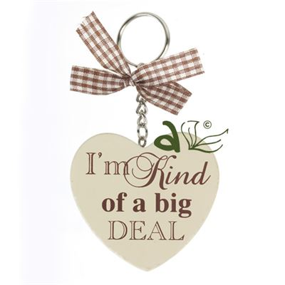 Big Deal Wooden Heart Key Ring