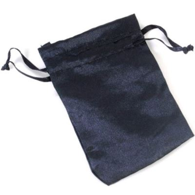 Black Satin Pouch