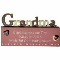 Grandma Cut Out on Word Block