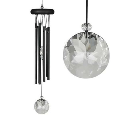 Crystal Meditation Chime Black