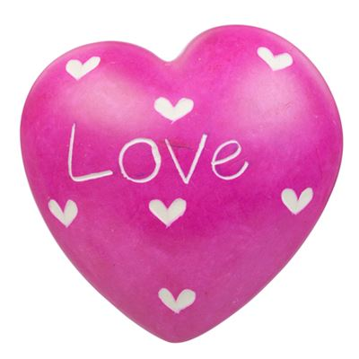 Pink Love Soapstone Heart