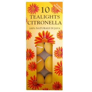 Citronella Tealight Candles 10 pack