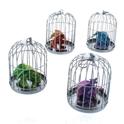 Set of 4 Dragonlings in Cages