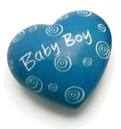 Baby Boy Blue Soapstone Heart