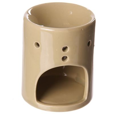 Beige Simple Round Oil Burner