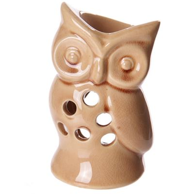 Beige Owl Oil Burner