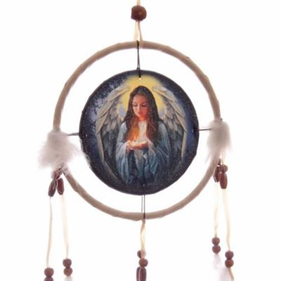 Angel Dream Catcher White by Lisa Parker Small