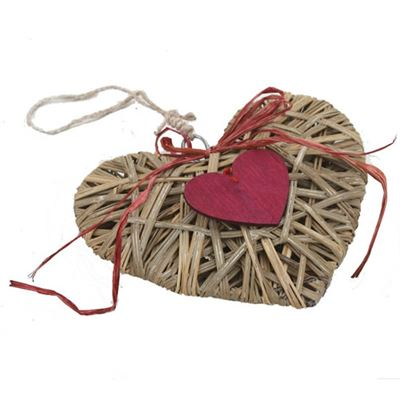 Hanging Rattan Heart Large