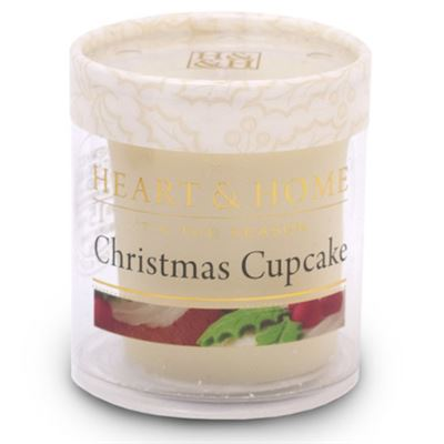 Christmas Cupcake Heart & Home Votive Candle