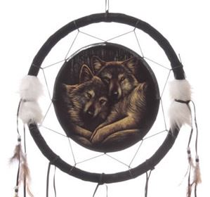 Loyal Companions Wolf Dream Catcher Large