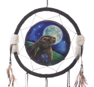 Moon Gazing Hare Dream Catcher Large