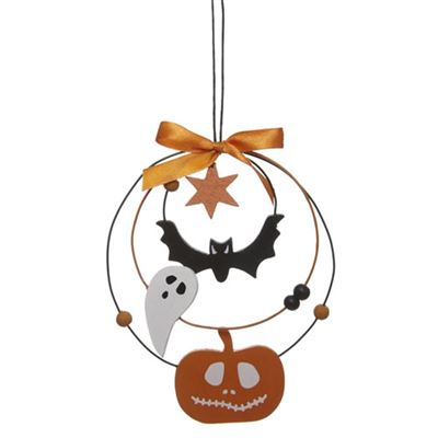 Ghost, Bat and Pumpkin Hanging Decoration