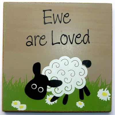Ewe Are Loved Sheep Coaster