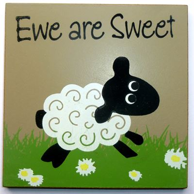 Ewe Are Sweet Sheep Coaster