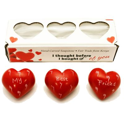 My Best Friend Set of 3 Hearts in Gift Box