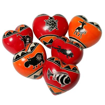Animal Soapstone Hearts