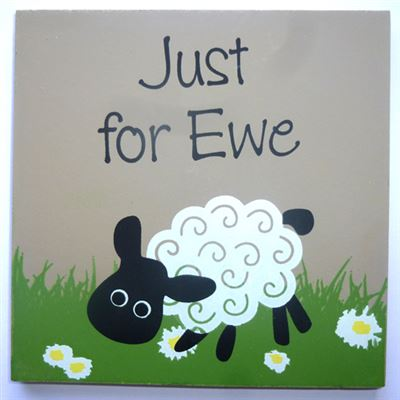 Just for Ewe Sheep Coaster