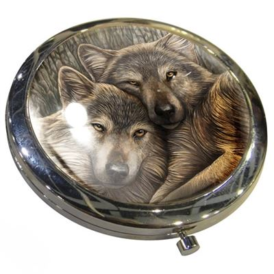 Loyal Companion Wolf Compact Mirror