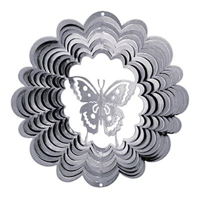 Butterfly Silver Wind Spinner Large