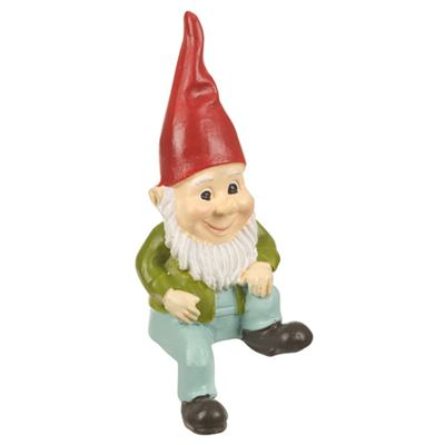 Gnome Sitting with Red Hat Small