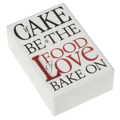 Food of Love Wooden Block Large