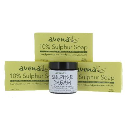 Sulphur 3 Soap and Cream Gift Set
