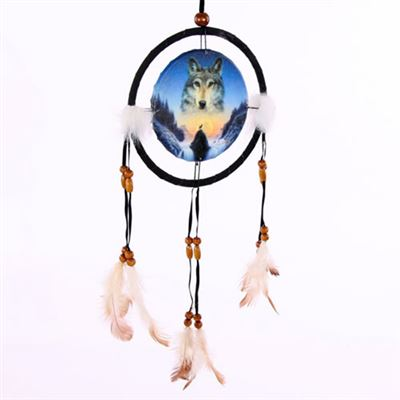 Cosmic Wolf Dream Catcher Small
