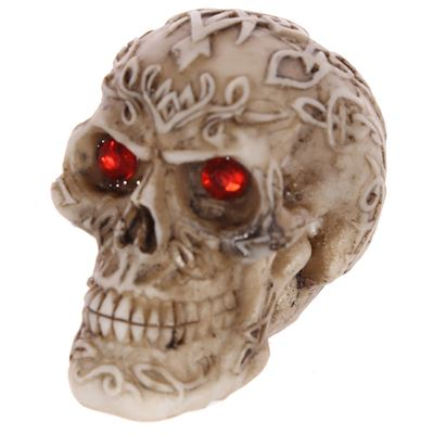 Skull with Red Gem Eyes