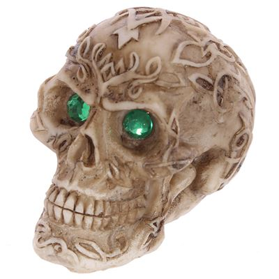 Skull with Green Gem Eyes