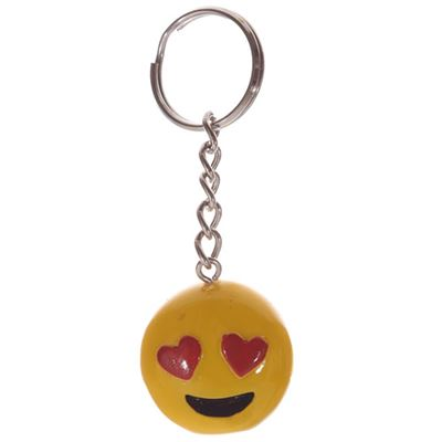 Emoji Key Ring Heart Eyes