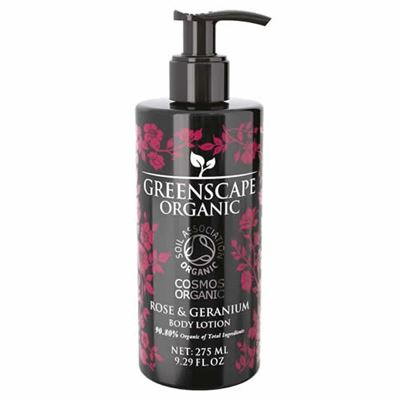 Rose & Geranium Greenscape Organic Hand & Body Lotion 275ml