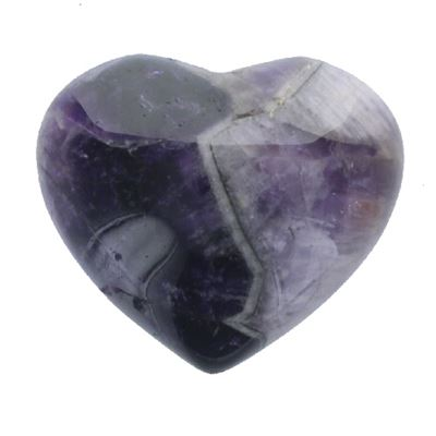 Amethyst Chevron Heart Large