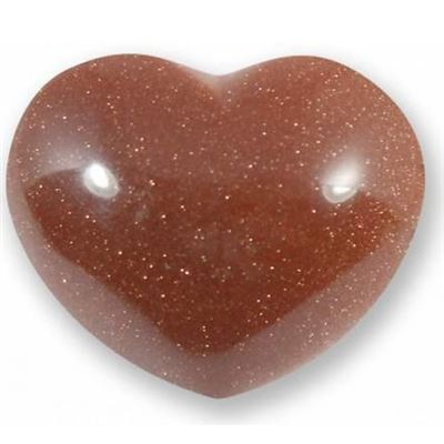 Red Goldstone Heart Large