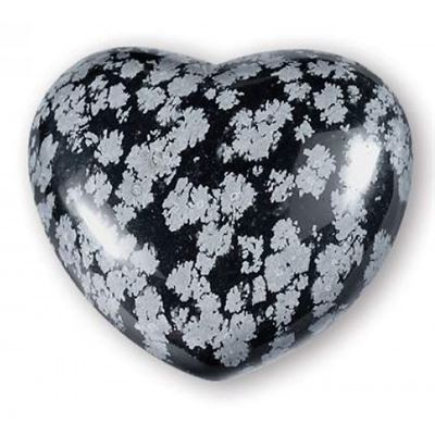 Obsidian Snowflake Heart Large