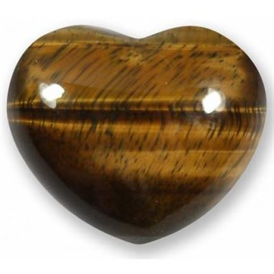 Tiger's Eye Heart Large