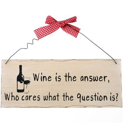Wine Is The Answer… Shabby Plaque