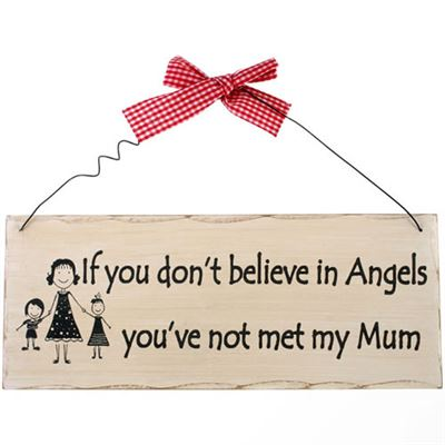 If You Don't Believe In Angels… Shabby Plaque