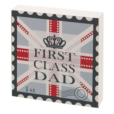 First Class Dad Gift Block