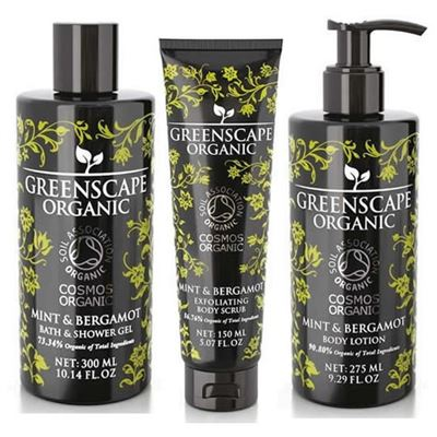 Organic Mint & Bergamot Greenscape Gift Set 3 Piece