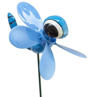 Blue Dragonfly Plant Pot Spinner